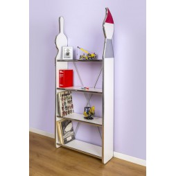 Compass Brush - Modern and Particular Bookcase with Shelves | 185hx73x25 cm