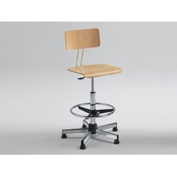 Emmeitalia - Designer Stool Adjustable Seat gas lift mechanism Made in Italy